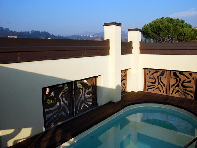 terrazzo panoramico colli piscina vendita attico bergamo curno longuelo piscina terrazzo