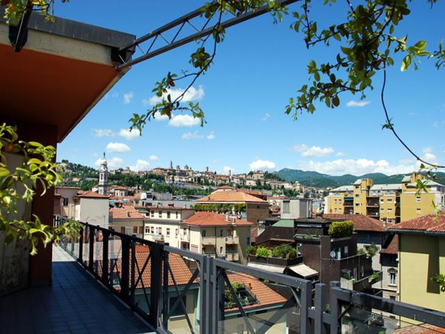 città alta bergamo vista panorama attico vendita
