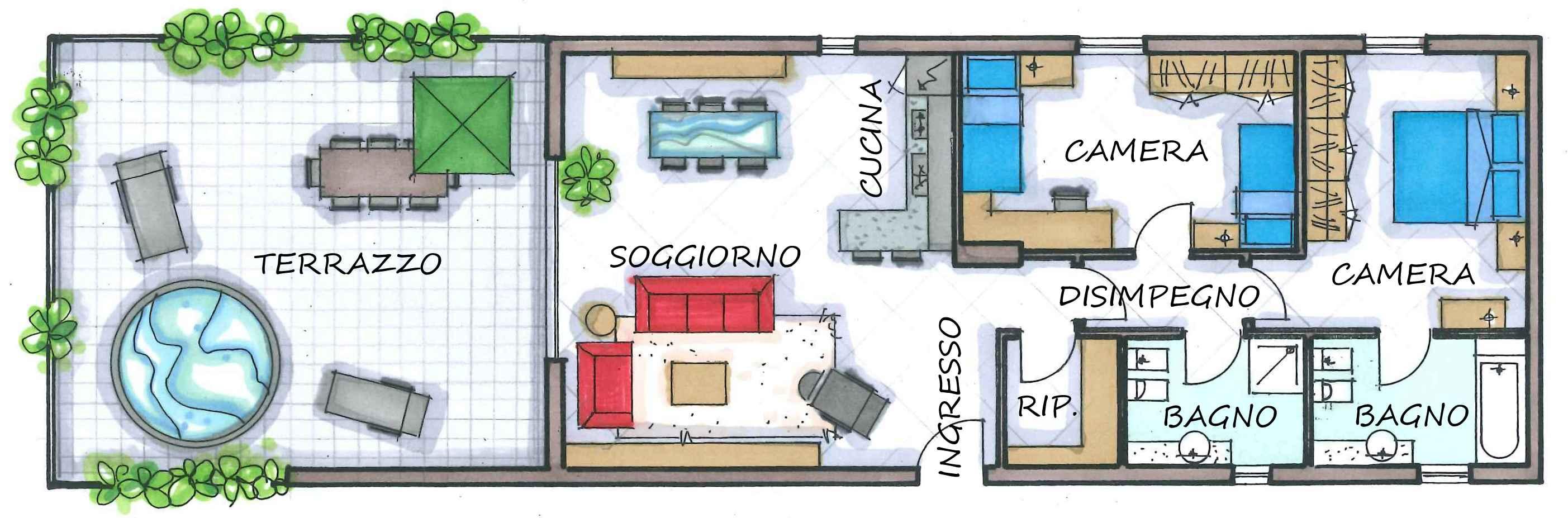 CURNO - ATTICO TRILOCALE - Agenzia Immobiliare Bergamo RM