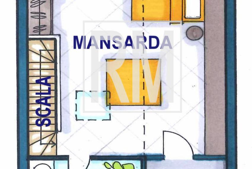 planimetria mansarda