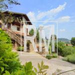 Bergamo Astino villa bifamiliare piscina giardino box doppio vista panoramica camino solarium colli